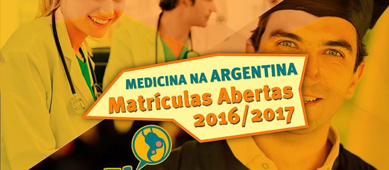 Medicina na Argentina 2016 / 2017 Matrículas Abertas